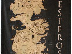 Mapa de Poniente sobre manta