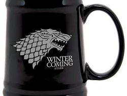Jarra de cerveza de cerámica, casa Stark