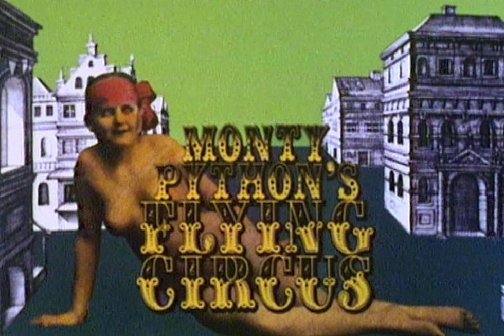 monty pythons flying circus ilustración con chica