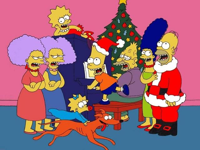 Personajes de la serie los simpsons en imagenes, navidad