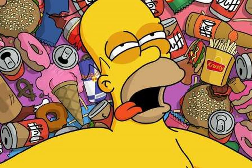 Personajes de los simpsons fotos homer borracho