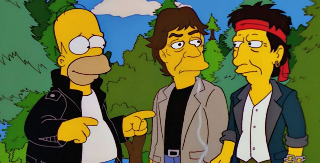 Personajes de los Simpsons fotos de Homer rock star
