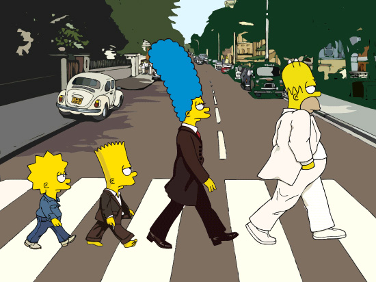 Los Simpsons fotos, Beattles