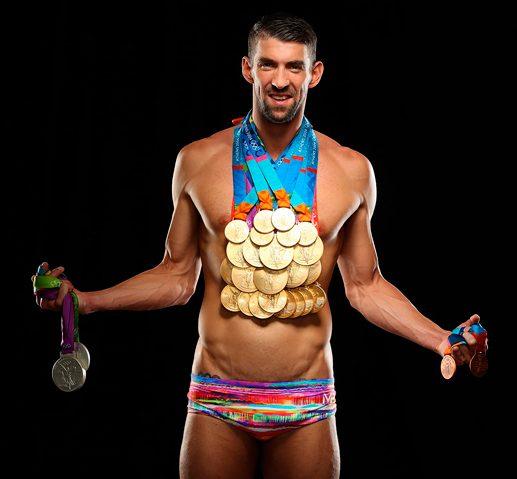 Michael Phelps, Personalidades del deporte