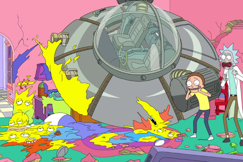Personajes de los Simpsons fotos Rick y Morty