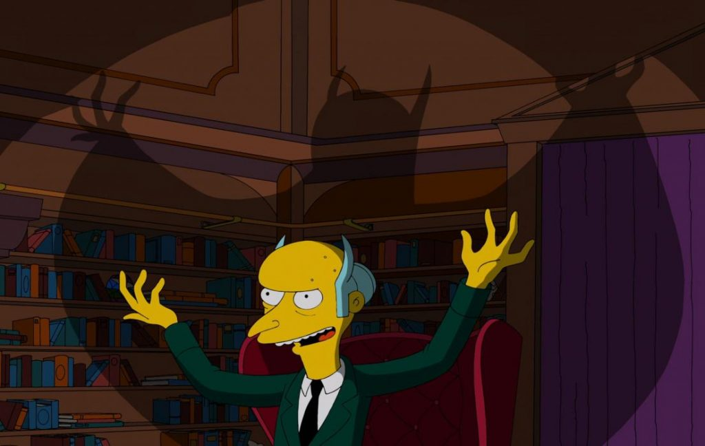 Sr Burns personajes de los simpsons fotos