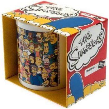 taza de los simpsons caja