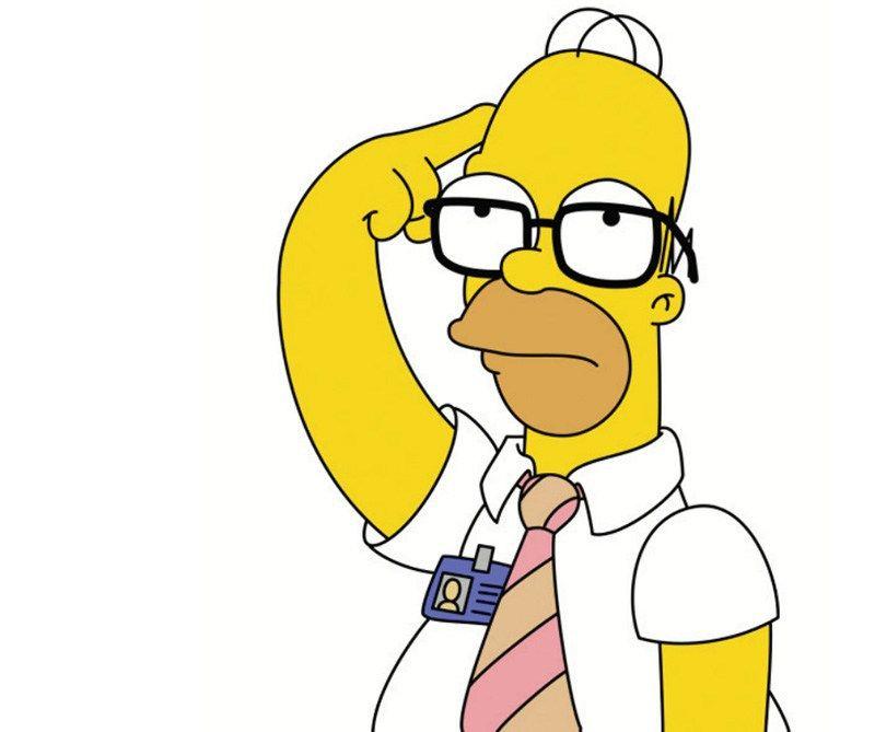 Imágenes de Homer Simpson con gafas