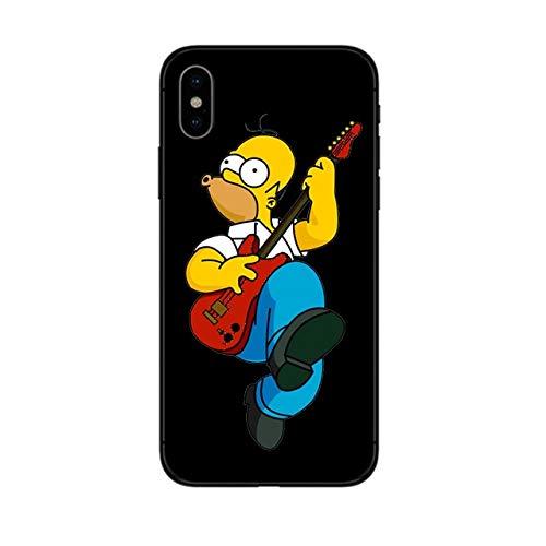 Funda iphone 11 Homer Simpson con guitarra