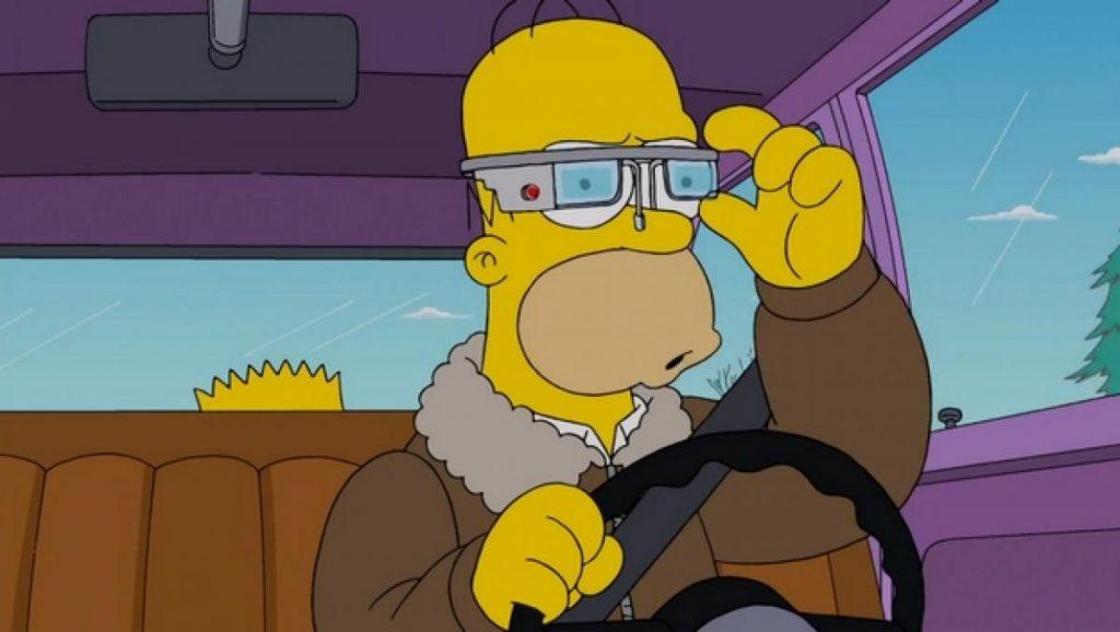 escenas de Homer Simpson, Google Glass