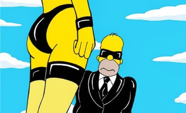 Las mejores fotos de Homer Simpson, de negro con tentaciones