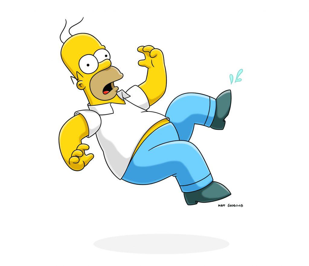 Las mejores imégenes de Homer Simpson, cayendo
