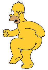 Imágenes de Homer Simpson, desnudo