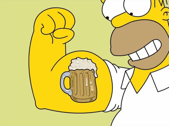 Imágenes de Homer Simpson y la cerveza