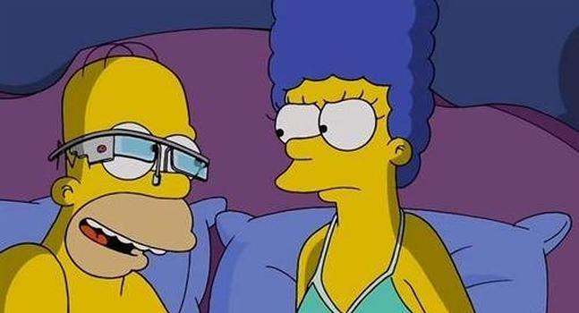 Fotos de Homer Simpson, Google Glass