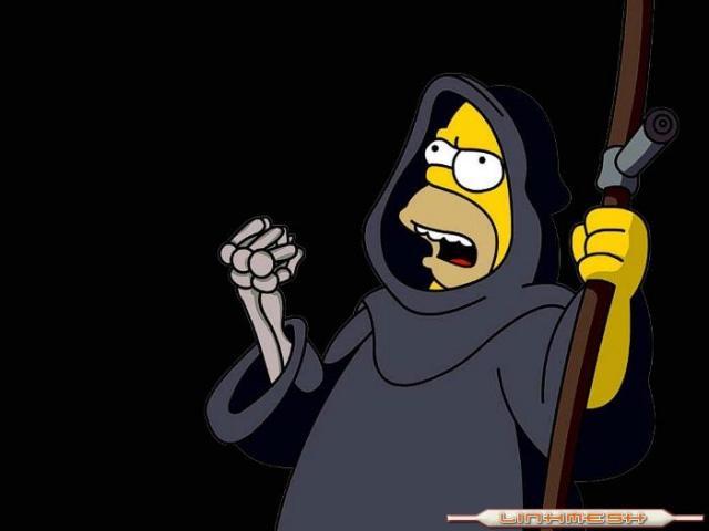 Fotos de Homer SImpson, aliado de la muerte