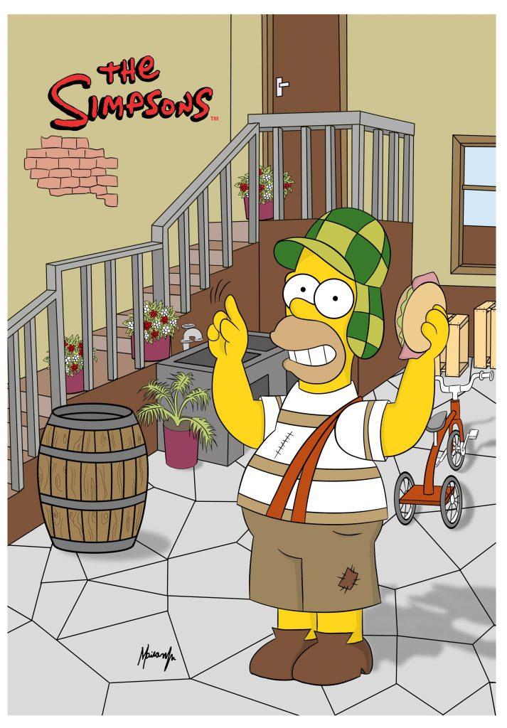 Fotos graciosas de Homer Simpson, el chavo del 8