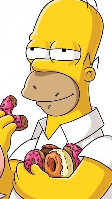 Homer Simpson y los Donuts, imágenes que no pueden faltar