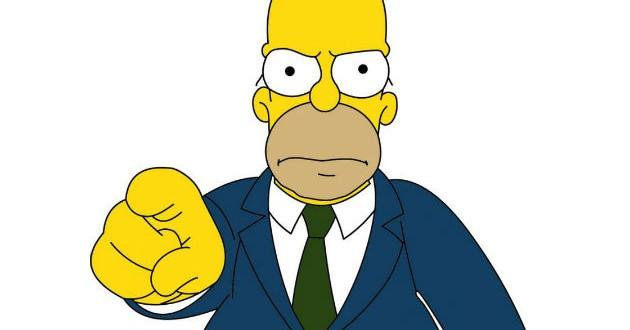 Imágenes de Homer Simpson, acusador