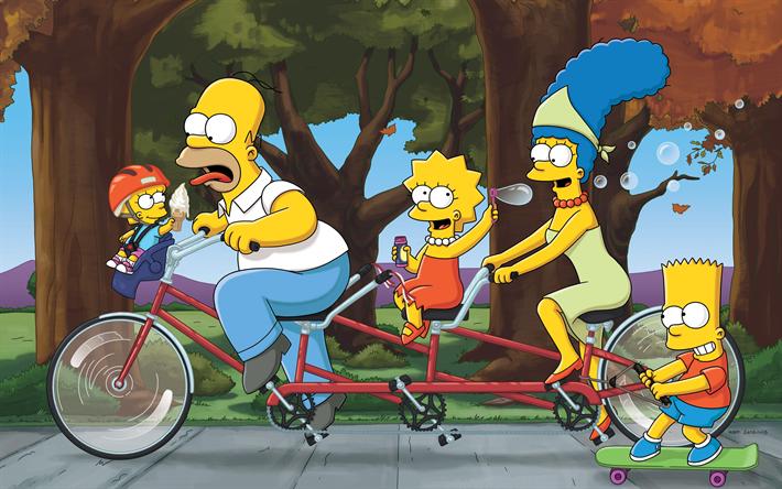Fotos de los SImpsons, Homer y familia en tandem