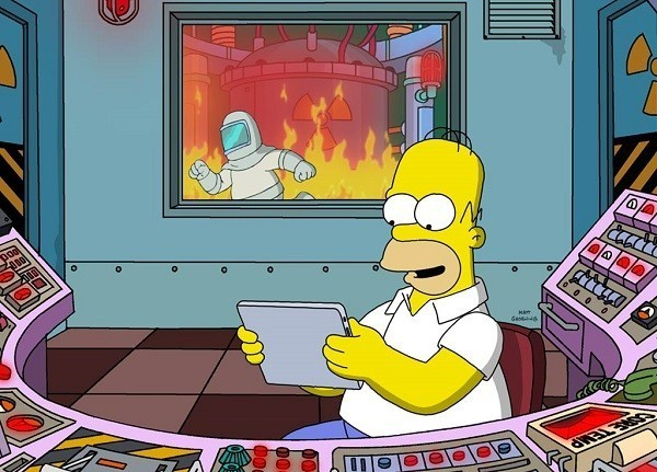 Fotos de Homer Simpson trabajando