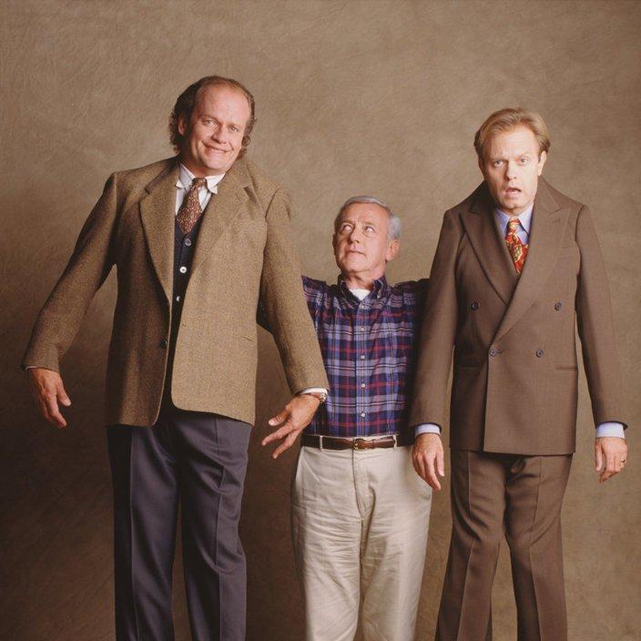 Martin Crane con Frasier y su hermano Niles