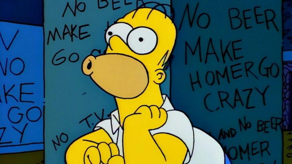 Homer dice sin tele y sin cerveza homer pierde la cabeza