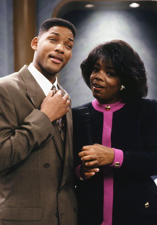 Personaje de Will Smith con Oprah Winfrey en la serie El Príncipe de Bel Air