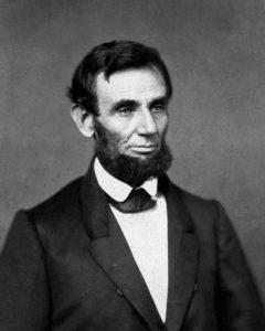 Personajes históricos americanos líderes Abraham Lincoln
