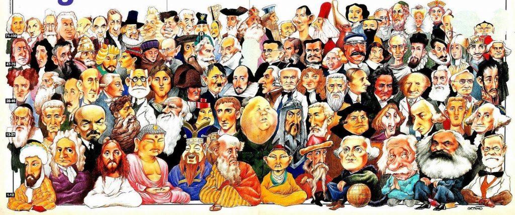 Collage personajes históricos más importantes del mundo