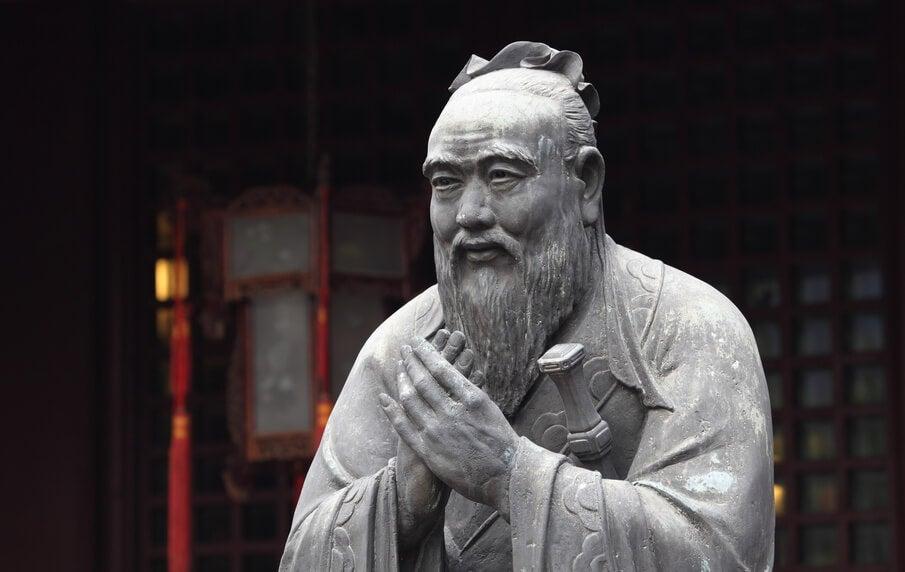 Líderes religiosos Confucio, personaje histórico