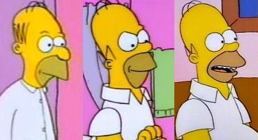 Evolución física de Homer Simpson en 30 años