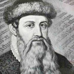 Lista de nombres de personajes científicos más importantes de la historia Johannes Gutenberg