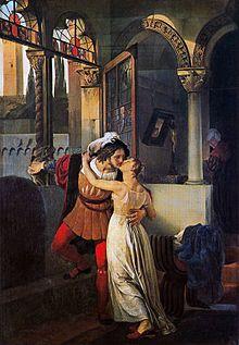Romeo y Julieta como personajes principales de la obra de Shakespeare