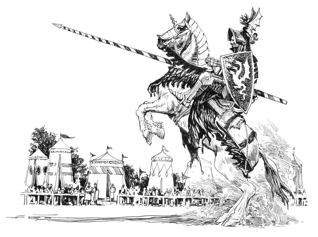 ilustración de El caballero de los Siete Reinos