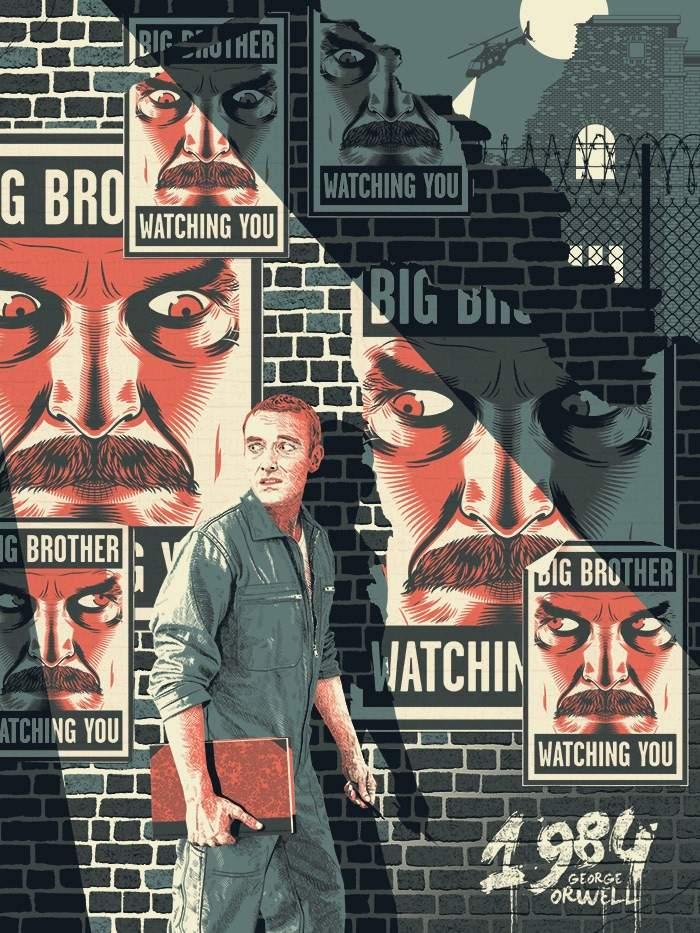 las pantallas de orwell en 1984