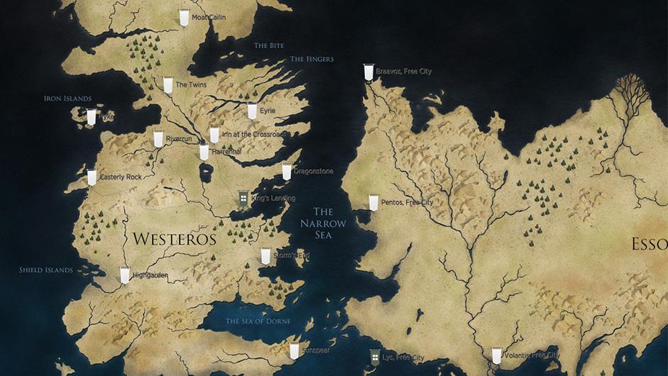 Mapa interactivo de Juego de Tronos