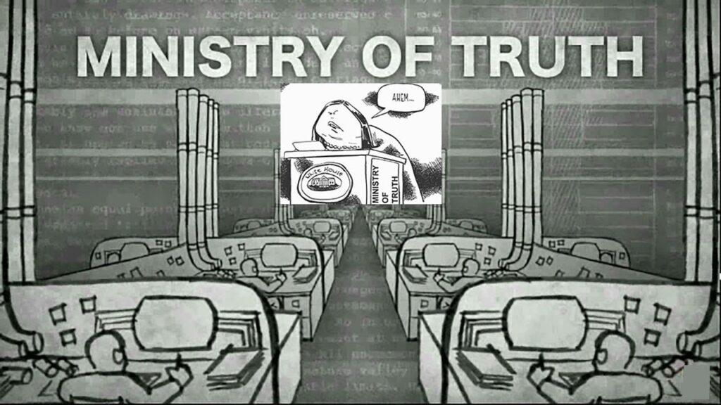 El ministerio de la verdad de Orwell 1984