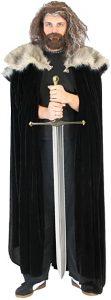 Capa de pieles de Ned Stark de la serie Juego de Tronos, para disfraz