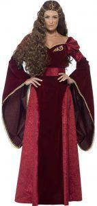 Disfraz de Reina Medieval para Mujer con Vestido, cinturón y Tocado