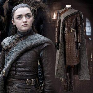 Disfraz de piel de Aria Stark con complementos