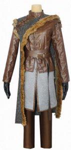 Disfraz-exclusivo-de-Aria-Stark-de-cuero-y-lana
