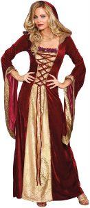 Disfraz de mujer cortesana de juego de tronos (tamaño mediano)