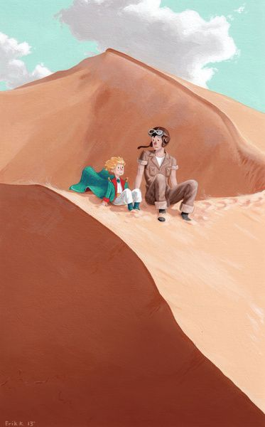 En el desierto con el aviador
