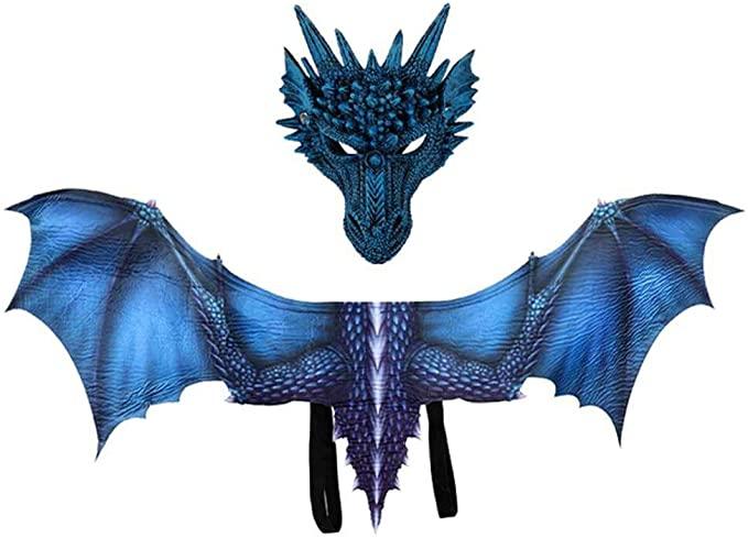 Máscara de disfraz de dragón de Juego de Trono con alas para adultos