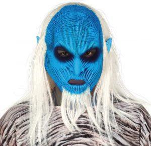 Terrorífica máscara de Horror Guerrero del Hielo / Azul-Blanco