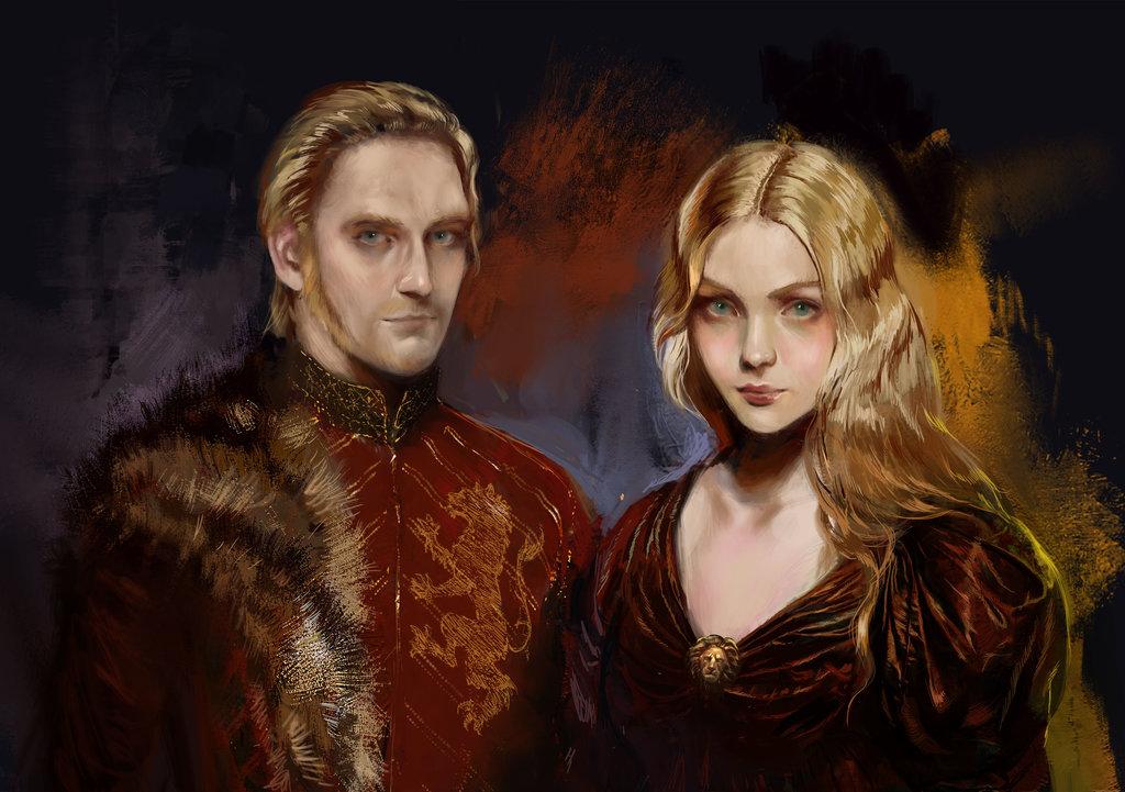 Padres de Tyrion Lannister, el enano de Juego de Tronos.Tywin y Joanna Lannister