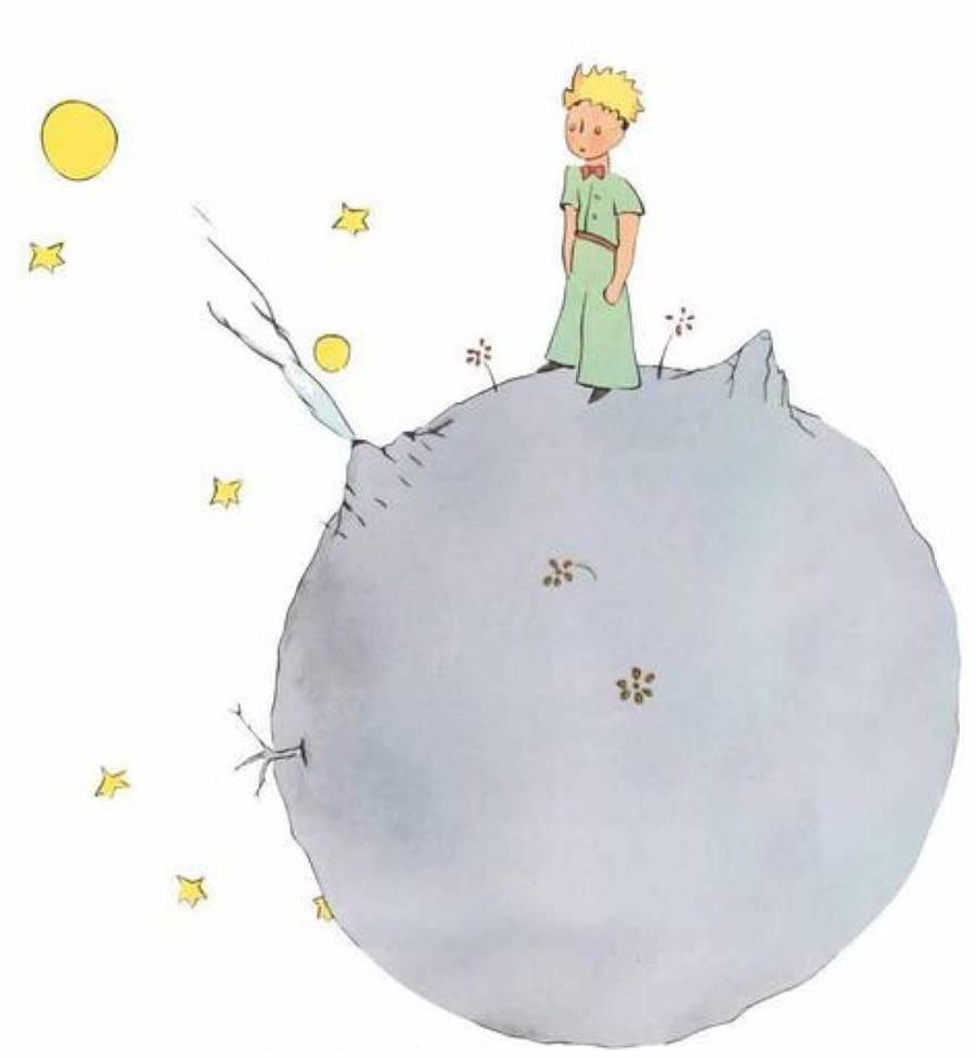 el-principito en el asteroide