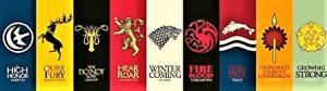 Banner con todas las casas de Juego de Tronos