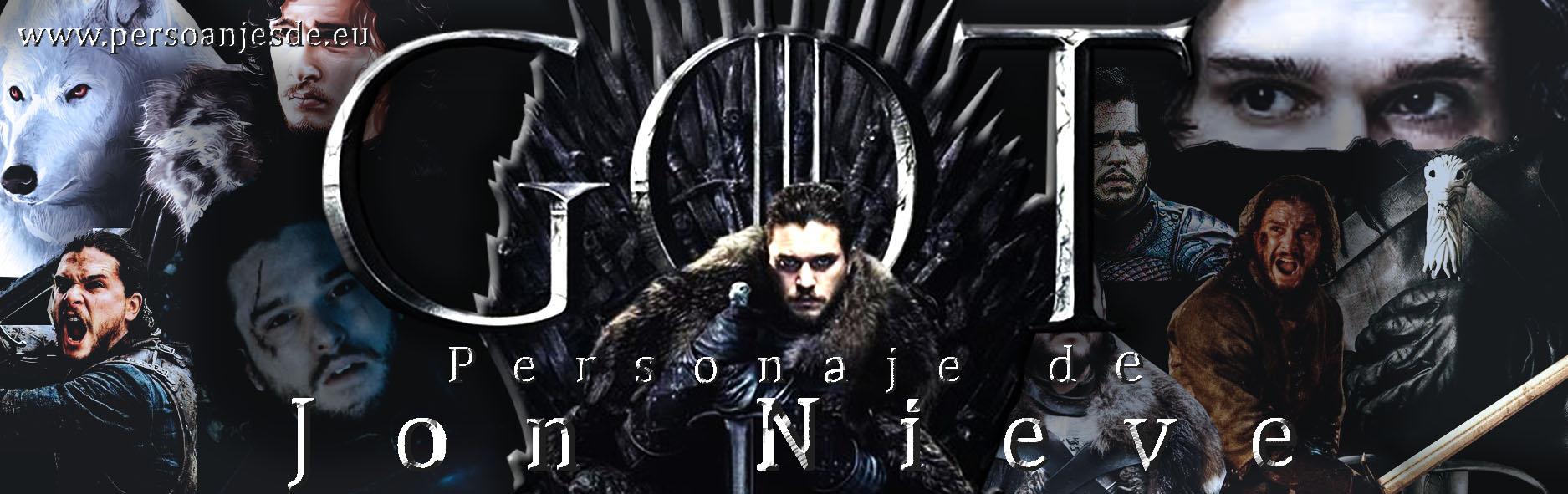 Personaje de Jon Nieve de Juego de Tronos